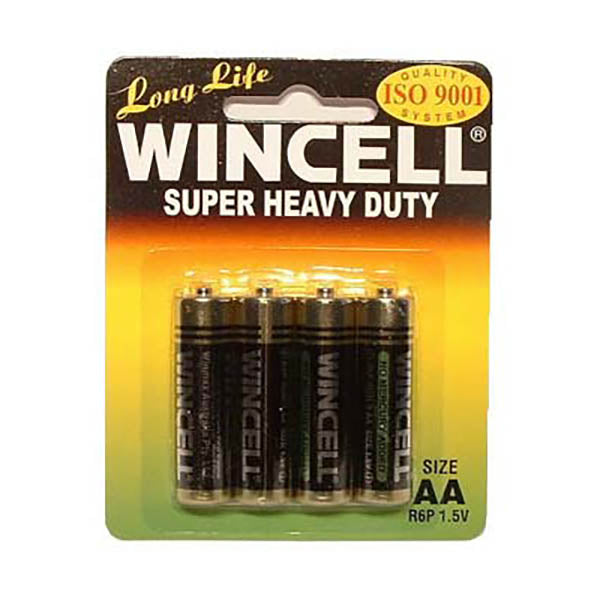 Wincell Aa Super Heavy Duty Batteries - Super Heavy Duty Batteries - AA 4 Pack