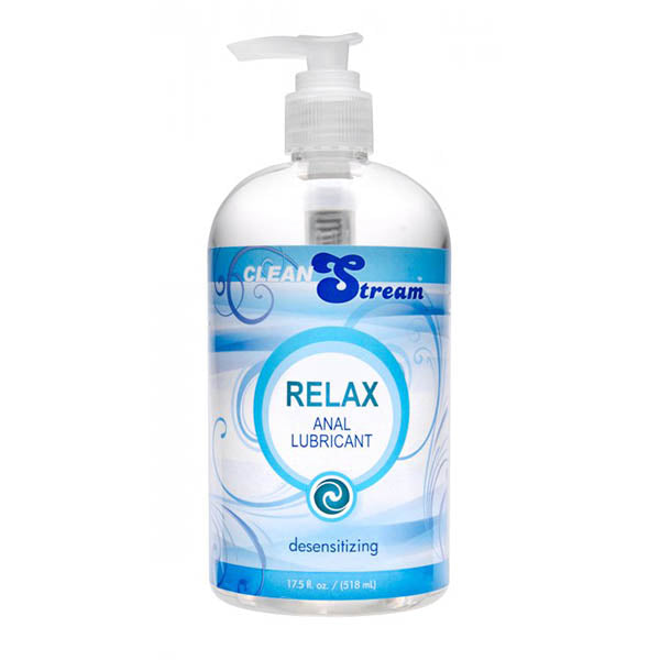 CleanStream Relax Anal Lubricant - Desensitising Lubricant - 518 ml (17.5 oz) Pump Bottle