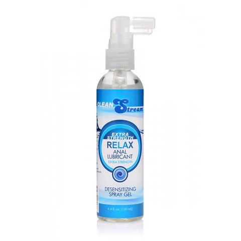 CleanStream Relax Extra Strength Anal Lubricant - Desensitising Anal Gel - 130 ml Bottle