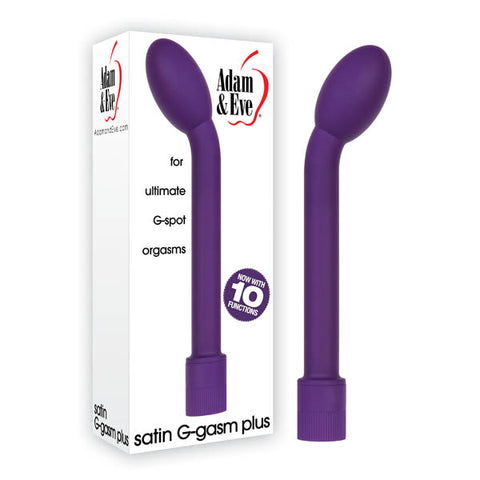 Adam & Eve Satin G-Gasm Plus - Purple 17.8 cm (7'') Vibrator
