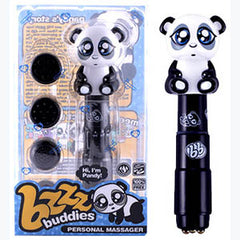 Bzzz Buddies - Pandy - Black Personal Massager with 4 Interchangable Tips