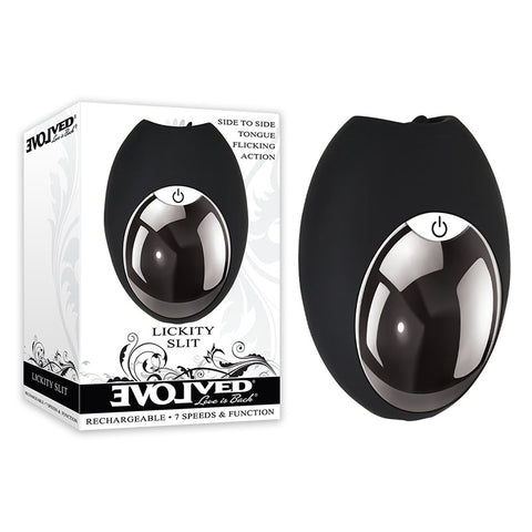 Evolved Lickity Slit - Black USB Rechargeable Flickering Stimulator