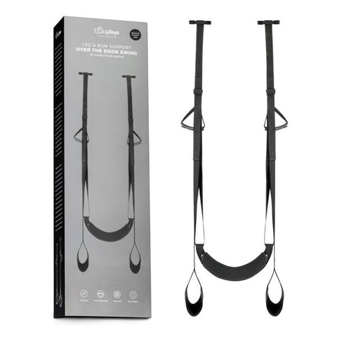 EasyToys Fetish Collection Over The Door Swing - Black Door Swing