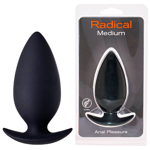 Seven Creations Radical - Black Medium Butt Plug