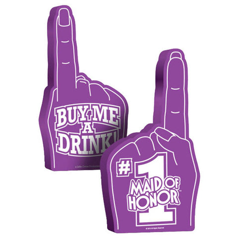 #1 Maid Of Honor Foam Hand - Purple Hens Party Novelty