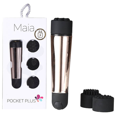 Maia Pocket Plus - Gold USB Rechargeble Mini Massager Wand