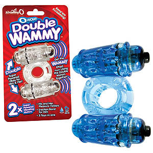 O Wow! Double Wammy - Coloured Double Vibrating Cock Ring - Box of 6