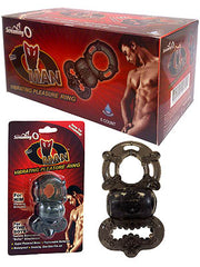 O Man - Smoke Vibrating Cock & Ball Rings - Box of 6