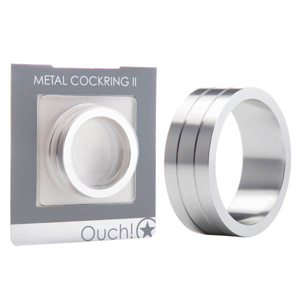Ouch Metal Cockring Ii - Metal Cock Ring