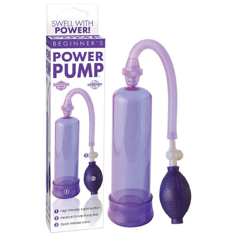 Beginner's Power Pump - Purple Penis Pump