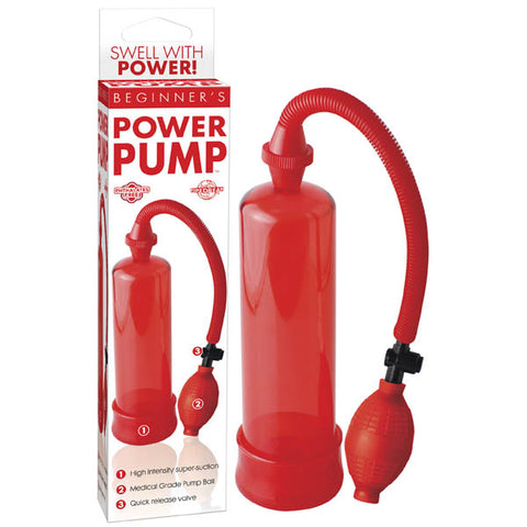 Beginner's Power Pump - Red Penis Pump