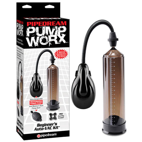 Pump Worx Beginner's Auto Vac Kit - Smoke Automatic Penis Pump