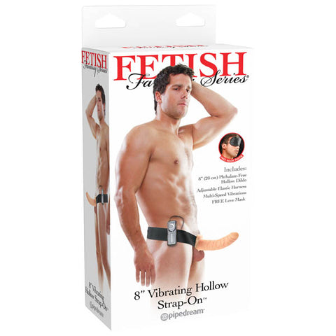 Fetish Fantasy Series 8'' Vibrating Hollow Strap-On - Flesh 20 cm (8'') Vibrating Strap-On