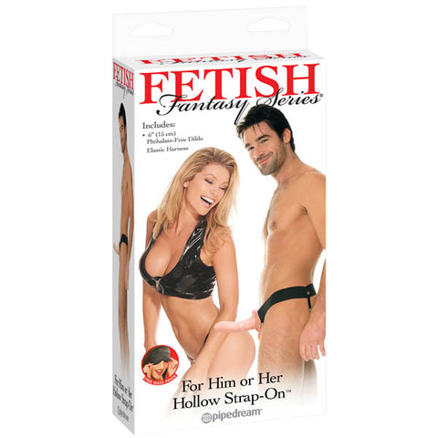 Fetish Fantasy Series For Him Or Her Hollow Strap-On - Flesh 15 cm (6'') Hollow Strap-On