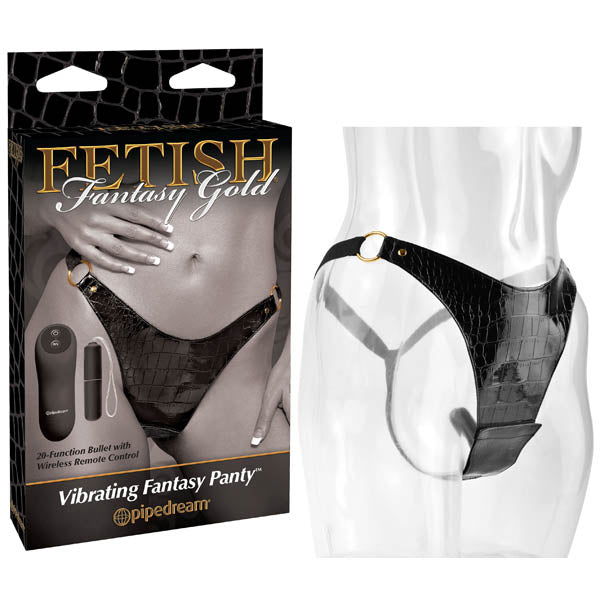 Fetish Fantasy Gold Vibrating Fantasy Panty - Black Vibrating Panty
