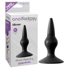 Anal Fantasy Collection Silicone Starter Plug - Black 10.9 cm (4.3'') Butt Plug