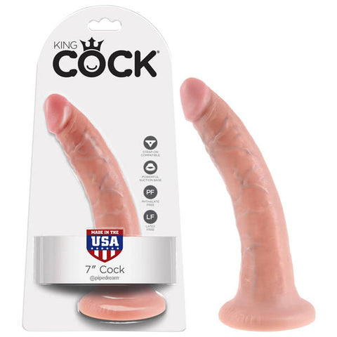 King Cock 7'' Cock - Flesh 17.8 cm (7'') Dong