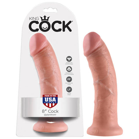 King Cock 8'' Cock - Flesh 20.3 cm (8'') Dong