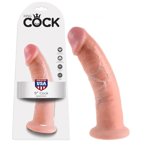 King Cock 9'' Cock - Flesh 22.9 cm (9'') Dong