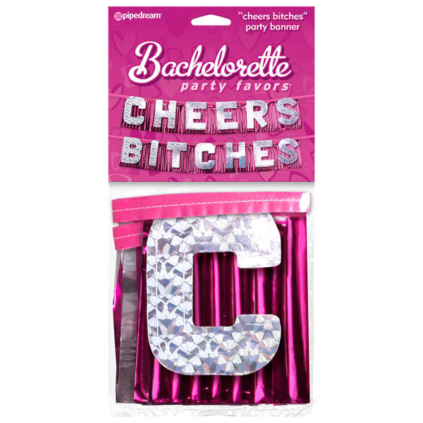 Bachelorette Party Favors ''Cheers Bitches'' Party Banner - Novelty Banner