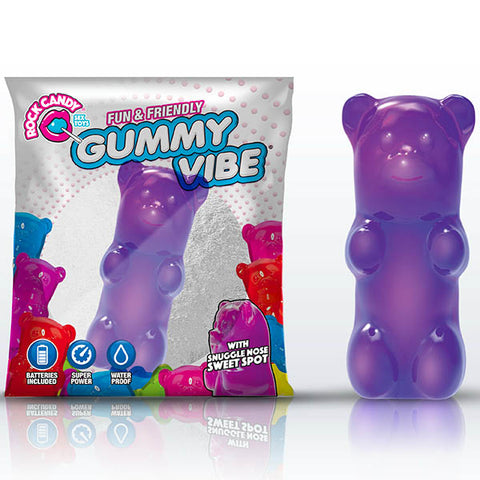 Rock Candy Gummy Vibe - Jelly Bean Purple Disposable Jelly Bullet