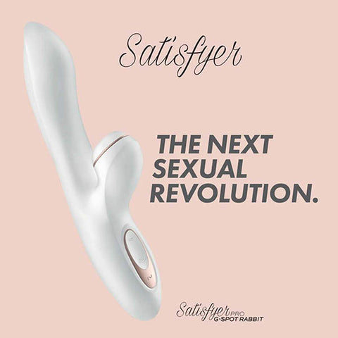 Satisfyer Pro G-Spot Rabbit - White 22 cm USB Rechargeable Rabbit Vibrator with Touch-Free Clitoral Stimulator
