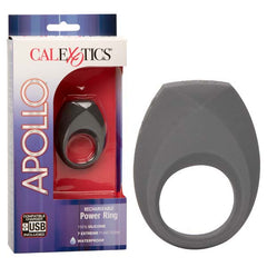 Apollo Rechargeable Power Ring - Grey USB Rechargeable Vibrating Cock Ring