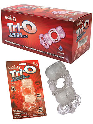 Tri-o - Dual Vibrating Cock Ring with Pleasure Ball - Bulk Box of 6