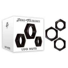 Zero Tolerance Lug Nuts - Black Cock Rings - Set of 3