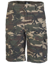 Camo mens shorts by Dickies. on display here in our lifestyle store in Galway .