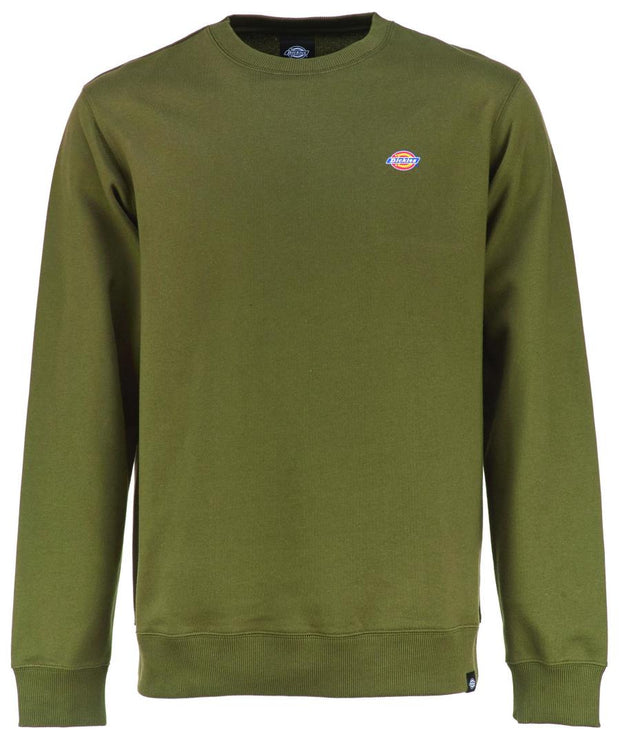 Green Dickies classic long sleeve sweatshirt. one of our best sellers here in the Fat Tonys Lifestyle store in Galway.
