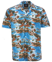 Hawaiian shirt in blue from Dickies.