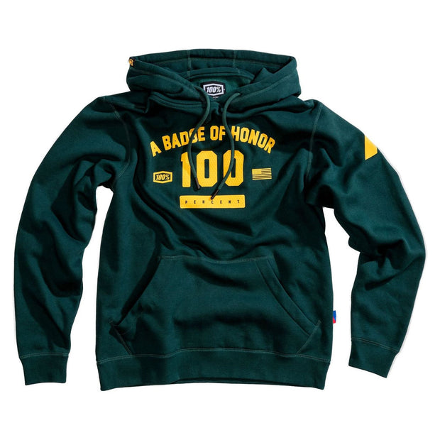 100% Tribute Pullover Hoodie Emerald