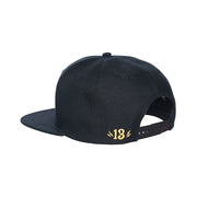 Lucky 13 Shocker snapback cap black with yellow logo