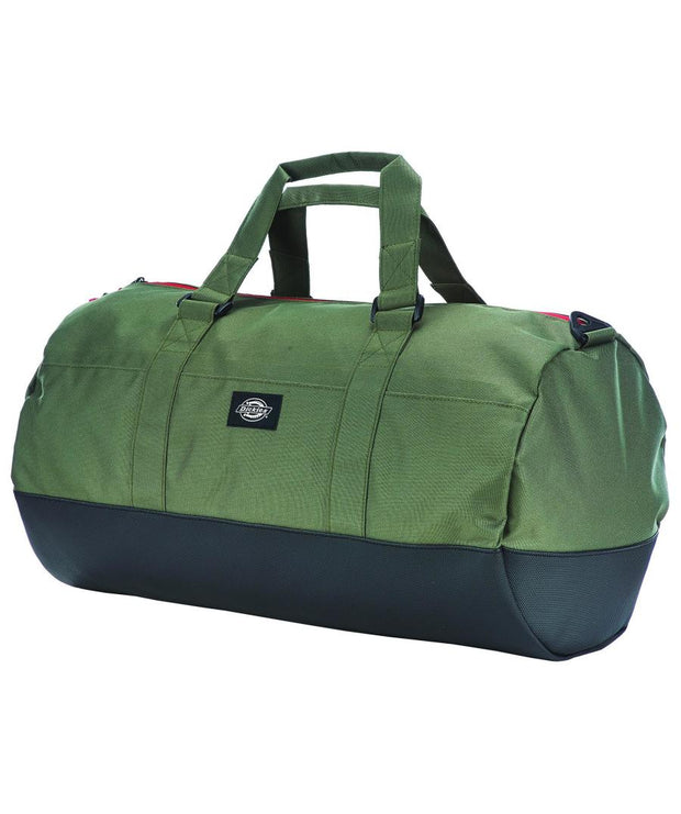 Green and Black holdall bag from from Dickies. great bag for going to the gym with or traveling on holiday with.