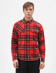 the classic red Prestonburg plad shirt by Dickies. This shirt should be in every mans shirt collection.