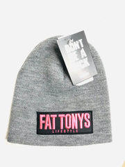 Fat Tony's grey Beanie / Gold Stitch