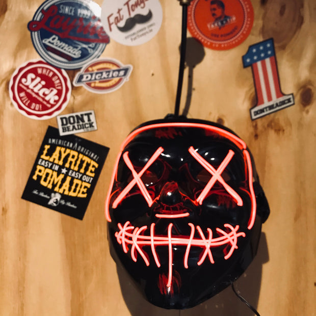 L.E.D Halloween Masks Red