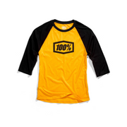 100% Essential ¾ Tech Tee Yellow/Black