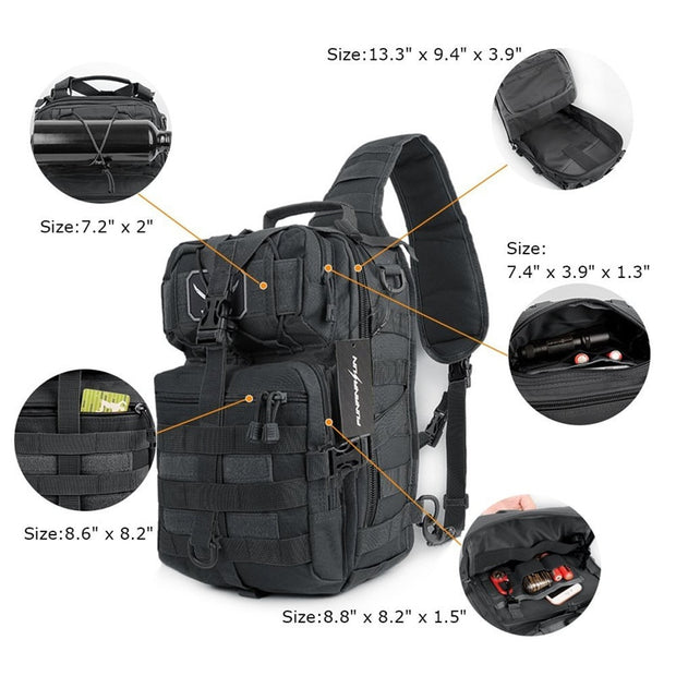 Single Strap Military Tactical Assault Pack