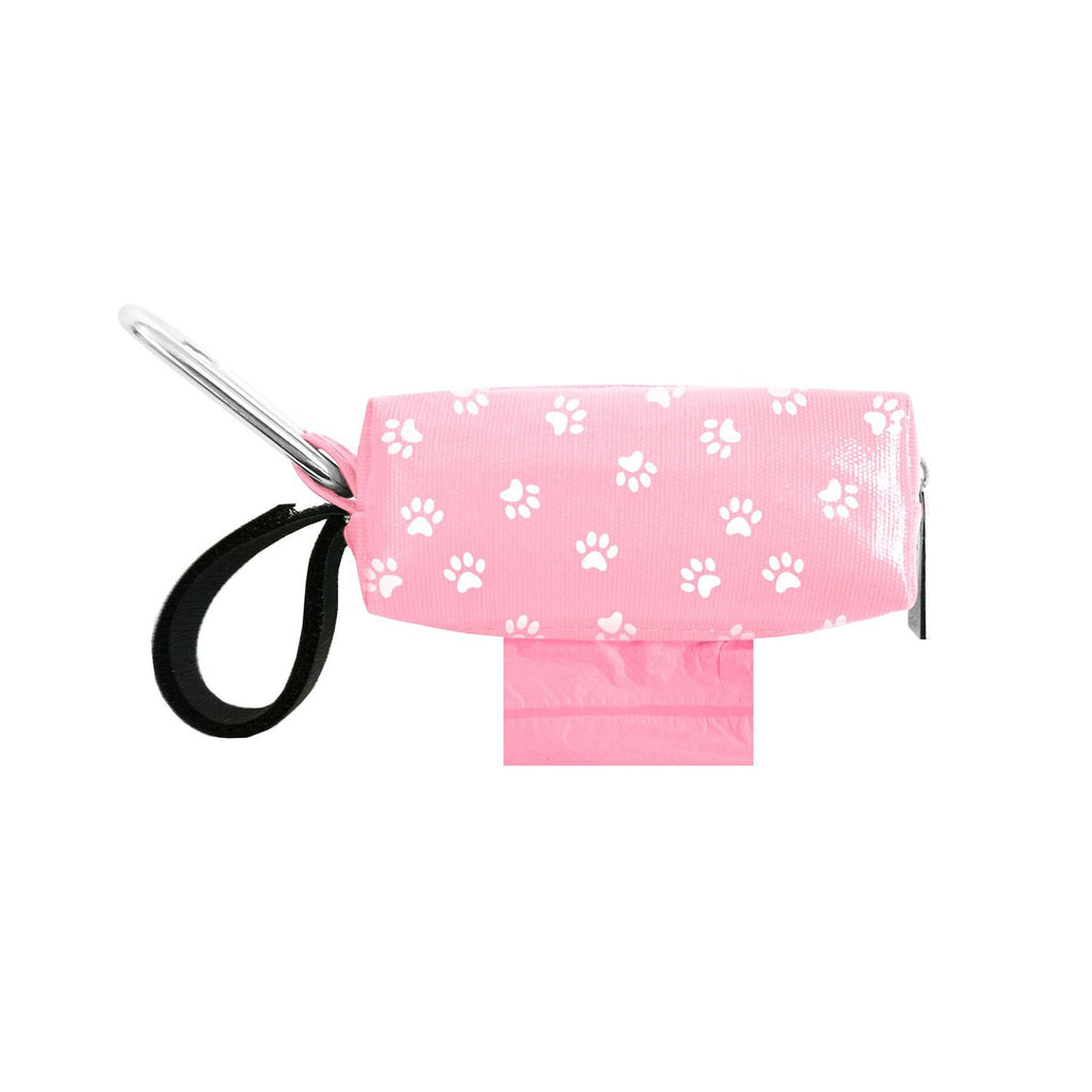 Doggie Walk Duffel Pink With White Paws