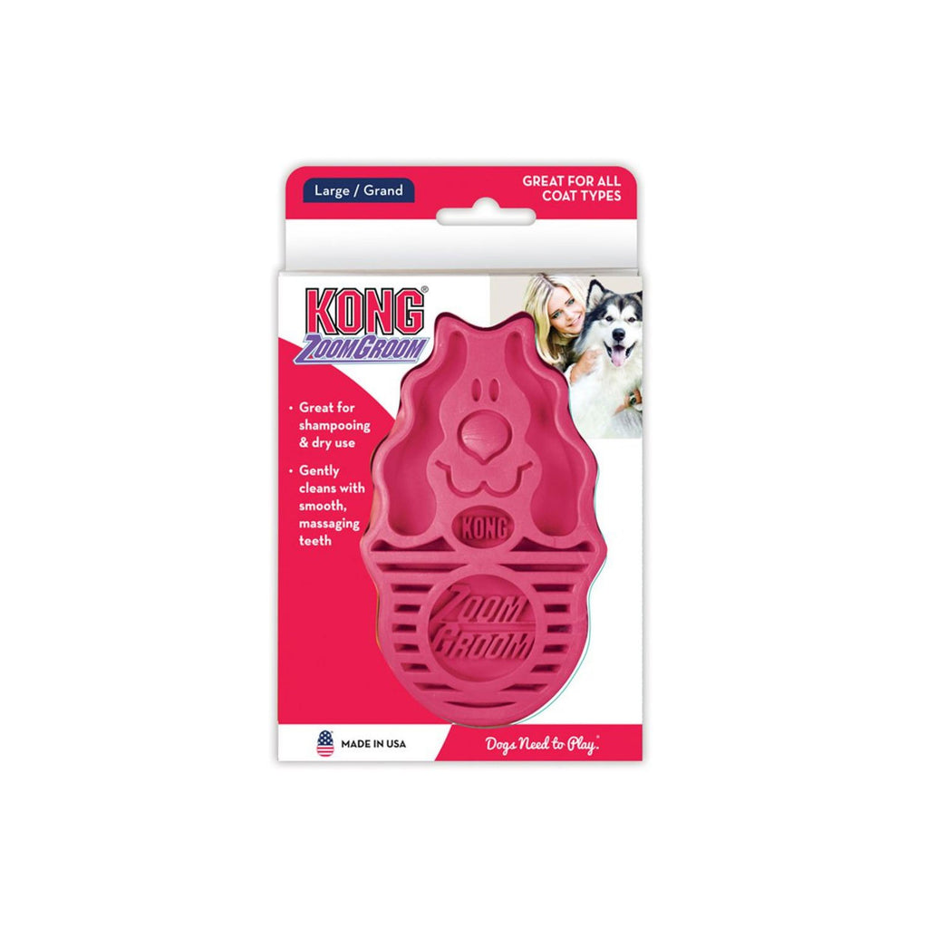 Kong Zoom Groom Raspberry