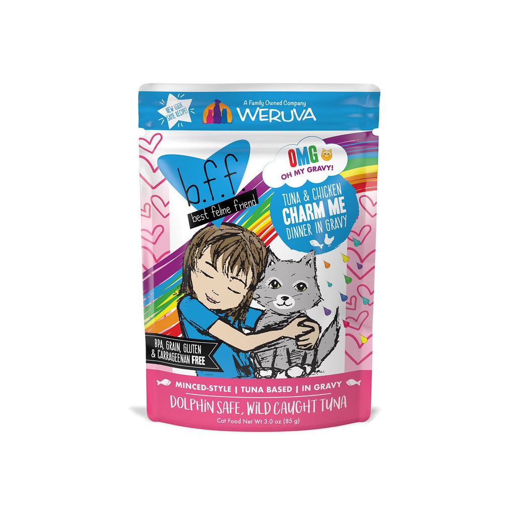 Weruva BFF OMG Cat Tuna & Chicken Charm Me Pouch 3oz