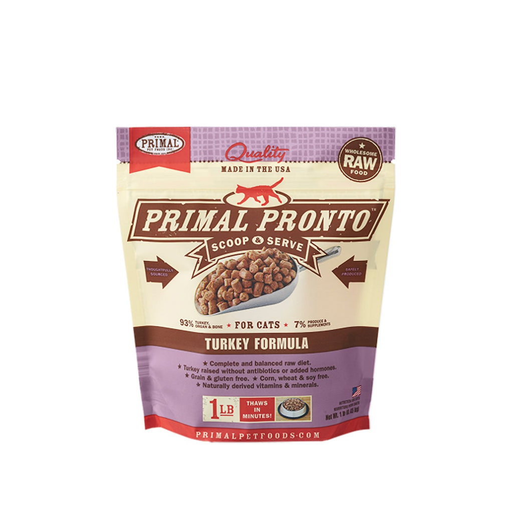 Primal Raw Cat Pronto Turkey 1lb