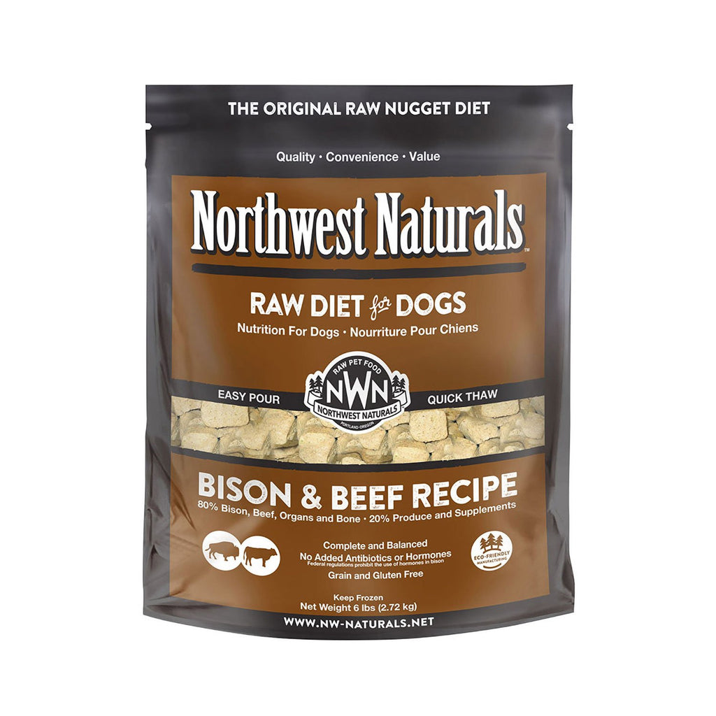 Northwest Naturals Raw Dog Bison & Beef Nuggets 6lb