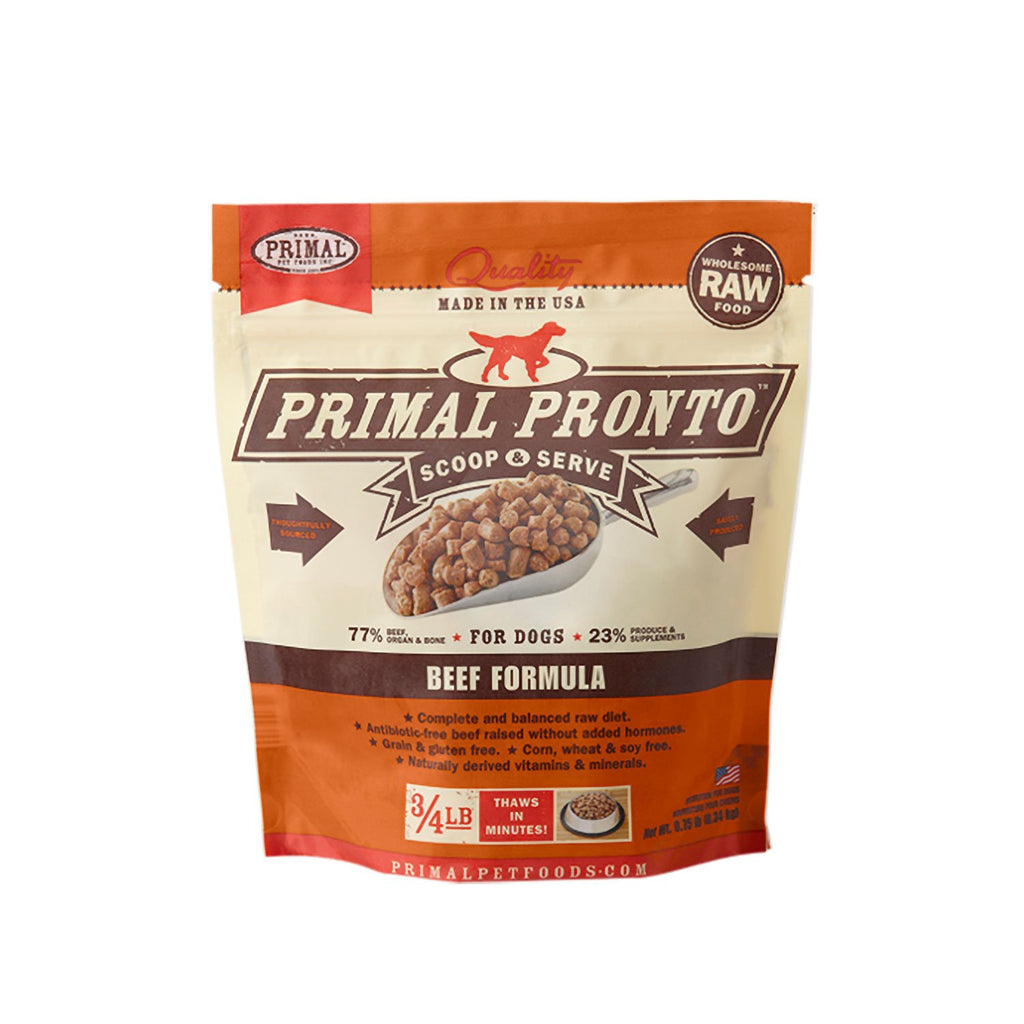 Primal Raw Dog Pronto Beef .75lb