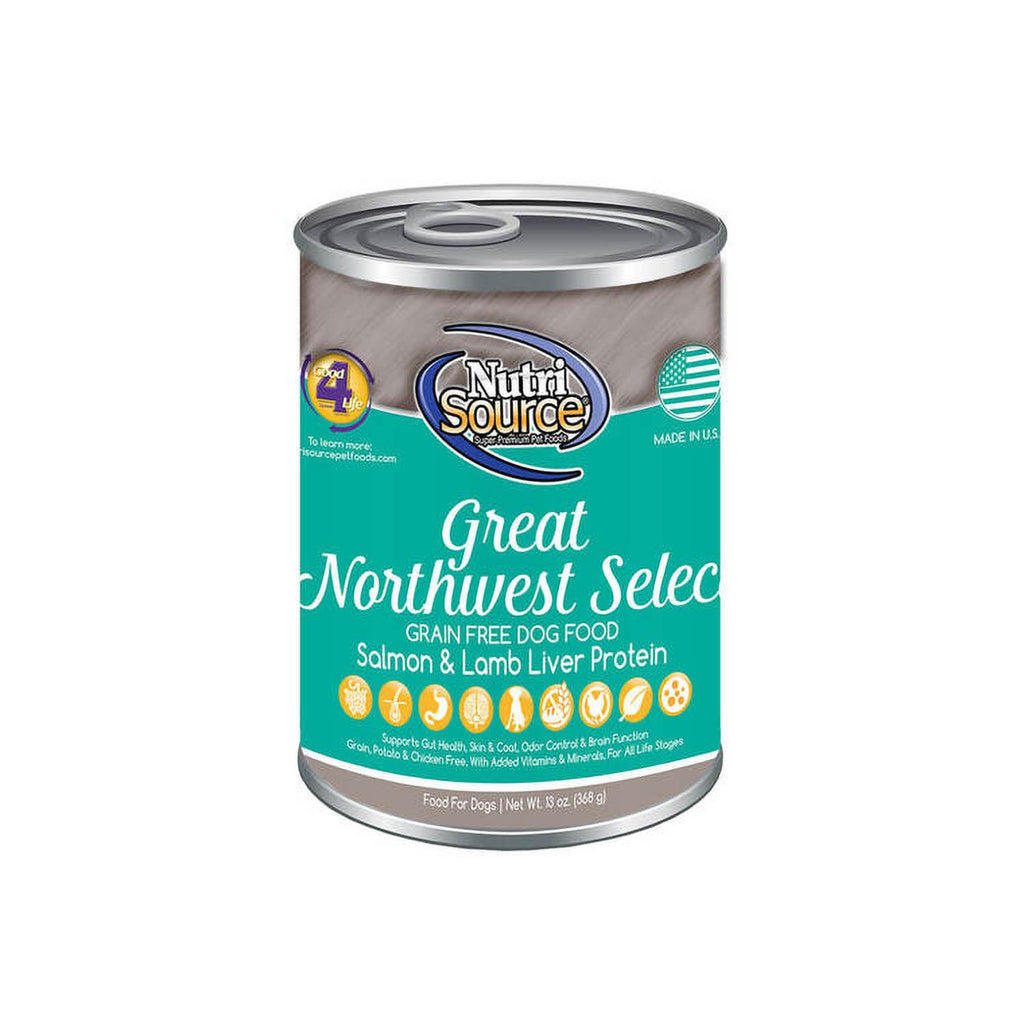 Nutrisource Grain Free Great NorthWest Can 13oz case of 12