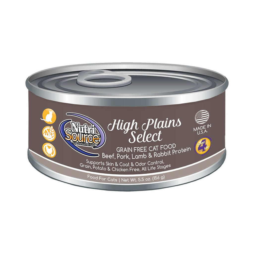 Nutrisource Cat Grain Free High Plains Select Can