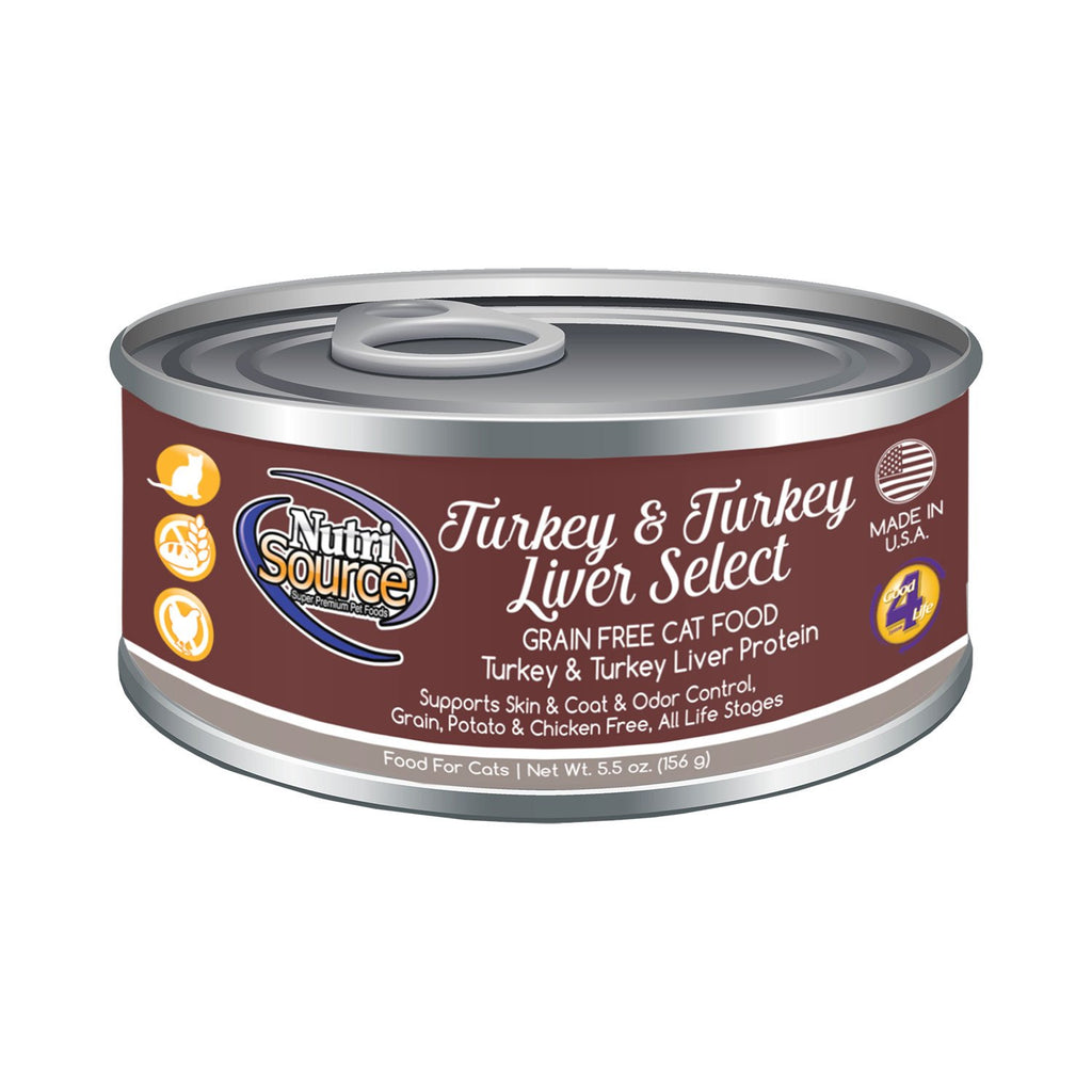 Nutrisource Cat Grain Free Turkey Can