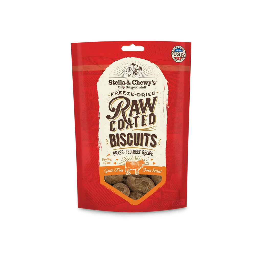 Stella & Chewy's Raw Coated Biscuits Beef Grass Fed 9oz